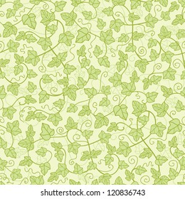Ivy plants seamless pattern background