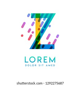 IZ logo with the theme of galaxy speed and style that is suitable for creative and business industries. ZI Letter Logo design for all webpage media and mobile, simple, modern and colorful