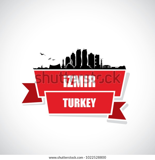 Izmir Skyline Turkey Vector Illustration Stock Vector Royalty Free 1022528800