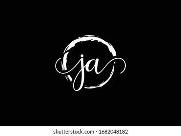J A, JA Initial Letter Logo design vector template, Graphic Alphabet Symbol for Corporate Business Identity