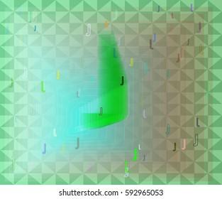 J Alphabet template vector
