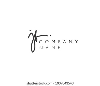 J B Initial handwriting logo
