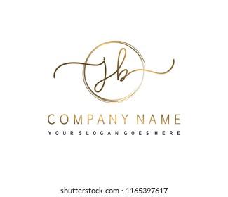 J B Initial handwriting logo vector