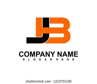 J B Initial logo template vector