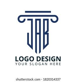 J A B Letter Law Office Logo Design Vector