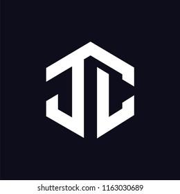 J C Initial letter hexagonal logo vector