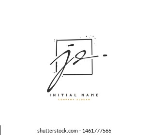 J D JD Beauty vector initial logo, handwriting logo of initial signature, wedding, fashion, jewerly, boutique, floral and botanical with creative template for any company or business.