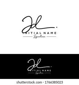 J D JD Initial letter handwriting and signature logo.