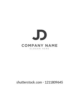 J and D letter abstract Logo Template Design Vector, Emblem, Design Concept, Creative Symbol, Icon
