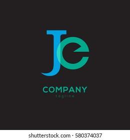 J & E Letter logo design vector element