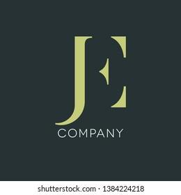 J E logo design. JE monogram