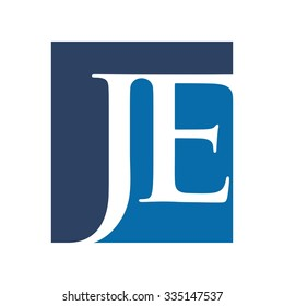 j and e logotype. logo template. icon template. vector eps 8.
