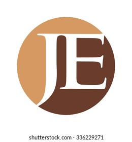 j and e logotype vector. logo template.