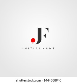 J & F / JF logo initial vector mark. Initial letter J and F JF logo. JF Initial name logo.