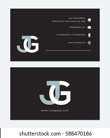 J & G Letter logo, with Business card