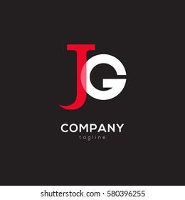 J & G Letter logo design vector element