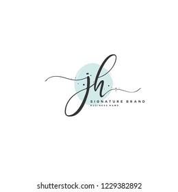 J H JH Initial logo template vector