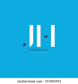 J H Letters Logo, Business vector logo template