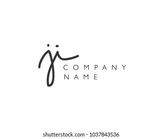J I Initial handwriting logo