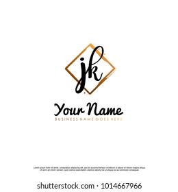 J K Initial abstract logo template vector