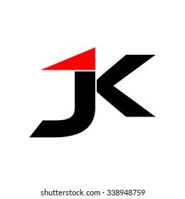 J K Initial Logo Template