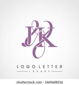 J & K / JK logo luxury initial vector mark template.