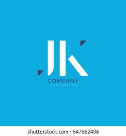 J K Letters Logo, Business vector logo template