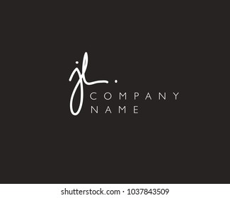 J L Initial handwriting logo