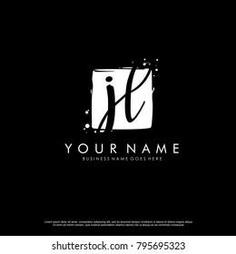 J L initial square logo template vector