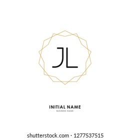 J L JL Initial logo letter with minimalist concept. Vector with scandinavian style logo.