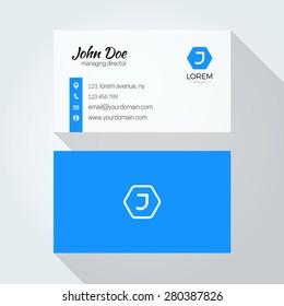 J Letter logo Minimal business card