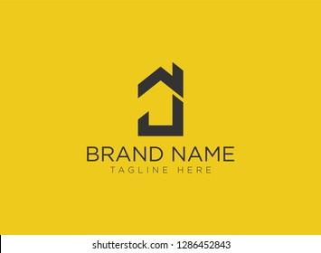 J Letter Real Estate Logo Design - Real estate logo