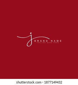 J Letter Signature Logo - Handwritten Vector Logo for Business Name Starts With Letter J