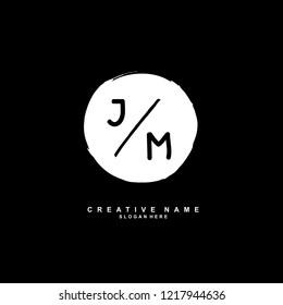 J M JM Initial logo template vector