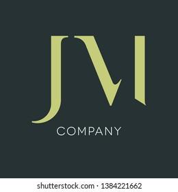 J M logo template. Monograms JN