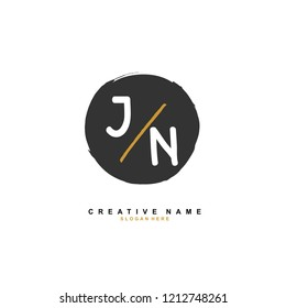 J N JN Initial abstract logo concept vector