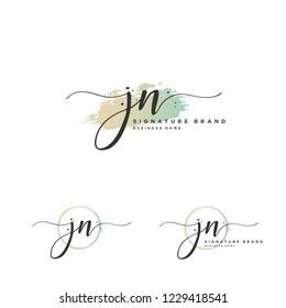 J N JN Initial logo template vector