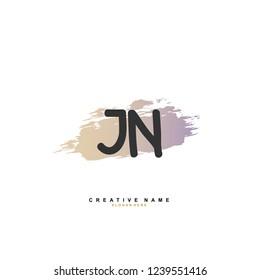 J N JN Initial logo template vector. Letter logo concept