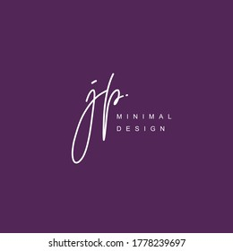 J P JP Initial handwriting or handwritten logo for identity. Logo with signature and hand drawn style.
