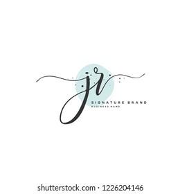 J R JR Initial letter handwriting and  signature logo.