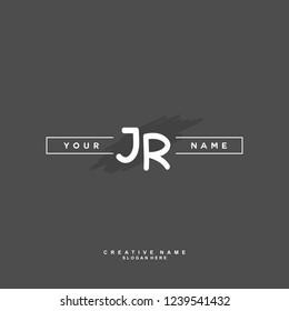 J R JR Initial logo template vector. Letter logo concept