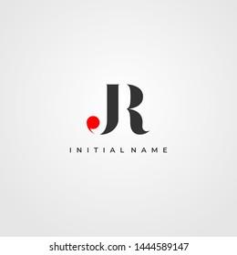 J & R / JR logo initial vector mark. Initial letter J and R JR logo. JR Initial name logo.