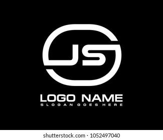 J S Initial circle logo template vector
