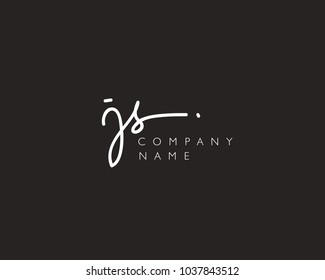 J S Initial handwriting logo