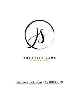 J S JS Initial logo template vector