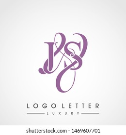J & S / JS logo luxury initial vector mark template.