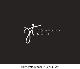 J T Initial handwriting logo