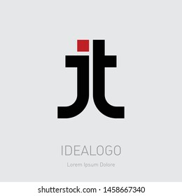 J and T initial logo. JT initial monogram logotype. TJ - Vector design element or icon.