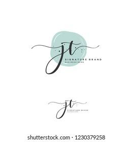 J T JT Initial logo template vector