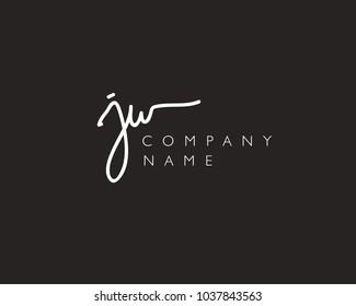 J W Initial handwriting logo